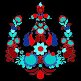 Traditional russian pattern. different leaves and flower. slavs Royalty Free Stock Image