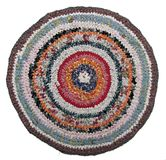 Traditional Russian Round Knit Mat Handmade.