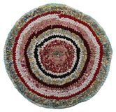 Traditional Russian round knit Mat handmade. Royalty Free Stock Image