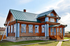 Traditional russian rural wooden house Royalty Free Stock Photography