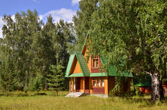 Traditional Russian Rural Wooden House Stock Photos