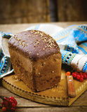 Traditional Russian rye Borodino bread Royalty Free Stock Photo