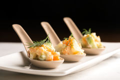 Traditional Russian salad olivie with boiled vegetables Stock Image