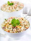 Traditional russian salad Royalty Free Stock Photo