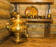 Traditional russian samovar Royalty Free Stock Photos