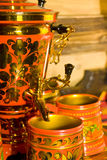 Traditional russian samovar Stock Image