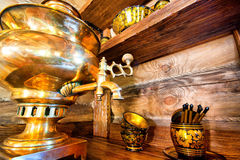 Traditional russian samovar Royalty Free Stock Image
