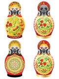 Matryoshka in respirator Royalty Free Stock Images