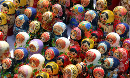 Traditional Russian Souvenirs Royalty Free Stock Photo