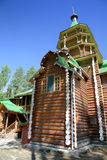 Traditional russian timber church Stock Photography