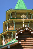 Traditional russian timber church Royalty Free Stock Image