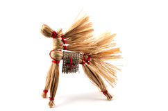 Traditional Russian toy, horse of the bast Royalty Free Stock Photography