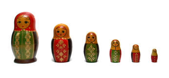 Traditional russian toys Stock Photos