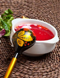 Traditional Russian ukrainian borscht soup Royalty Free Stock Images