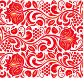 Traditional Russian vector seamless pattern in khokhloma style. Can be used for banner, card, poster, invitation etc. Stock Photo