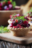 Traditional russian vegan salad with potato and beetroot Stock Images