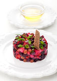 Traditional Russian vegetable salad with beetroot Vinaigrette Royalty Free Stock Images