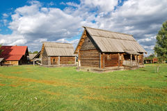 The traditional russian village. In the Museum of Wooden Masterpieces in Suzdal Stock Photography