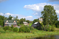 The traditional russian village Stock Images