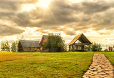 The traditional russian village in Suzdal Stock Photo