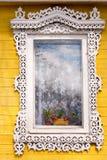 Traditional Russian window Stock Photo