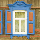 Traditional russian window Royalty Free Stock Photo