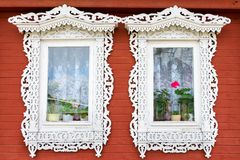 Traditional Russian windows Royalty Free Stock Images