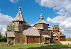 The traditional russian wooden chirch Royalty Free Stock Photography