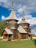 The traditional russian wooden church Stock Images