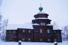 Traditional Russian wooden church Royalty Free Stock Photos
