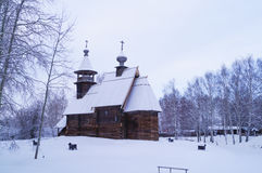 Traditional Russian wooden church Royalty Free Stock Image