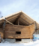 Traditional Russian wooden house Royalty Free Stock Image
