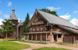 Free Traditional Russian Wooden House Royalty Free Stock Photography - 34216017