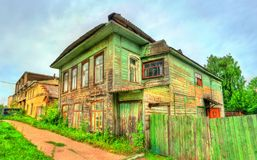 Traditional Russian wooden house in Rostov. The Golden Ring of Russia Royalty Free Stock Photo