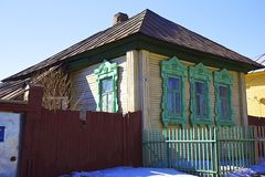 Traditional Russian wooden house Stock Images