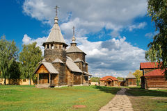 The traditional russian wooden houses Stock Image