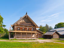 Traditional Russian wooden rural house. Stock Image