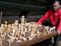 Traditional Russian wooden toy Stock Image