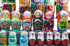 Traditional russian wooden toys Stock Image