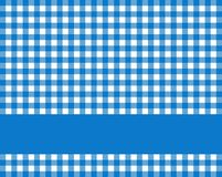 Blue white tablecloth with stripe for text. Traditional rustic blue white tablecloth texture with blue stripe for text royalty free illustration