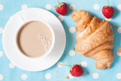 Traditional rustic croissant sweet French pastry Royalty Free Stock Image