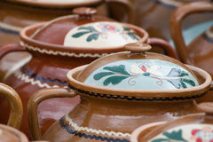 Traditional rustic pottery from Romania Royalty Free Stock Images