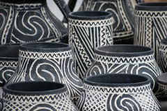 Traditional rustic pottery from Romania. Traditional earthenware rustic pottery from Romania stock images