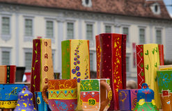 Traditional rustic pottery from Romania. Traditional earthenware rustic pottery from Romania Royalty Free Stock Images