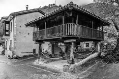 Typical wooden house in Asturias, northern Spain Royalty Free Stock Photo