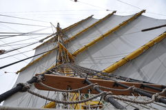 Traditional sail rig stock photography