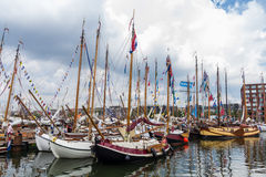 Traditional sailing boats at SAIL 2015, Amsterdam Netherlands Royalty Free Stock Photos