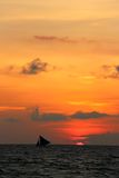 Traditional sailing boats  on a sunset tour Royalty Free Stock Photos