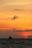 Traditional sailing boats  on a sunset tour Stock Images