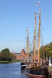 Traditional sailing ships in Luebeck Stock Photos